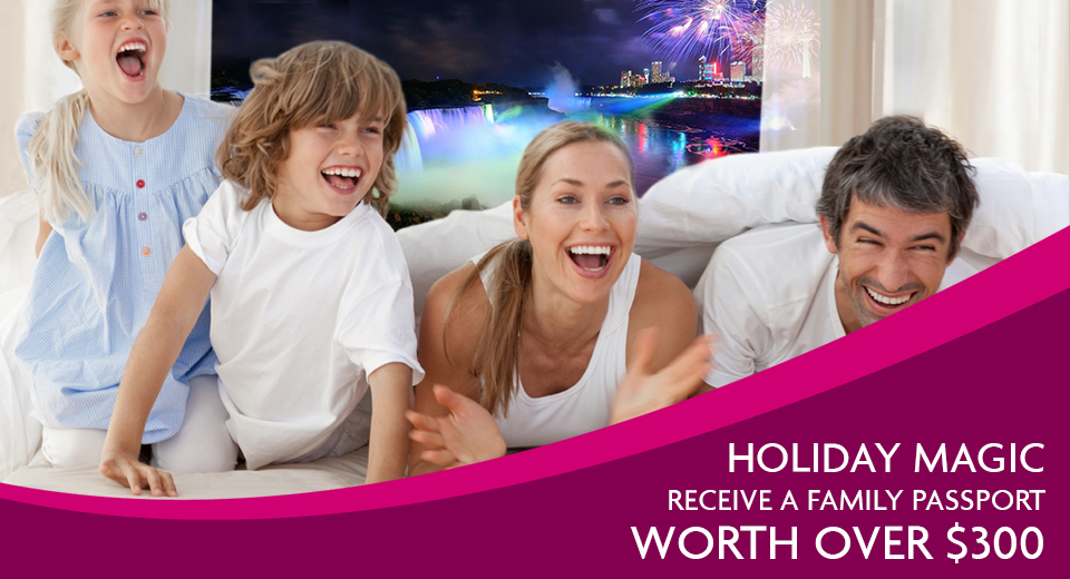 Spend the holidays at the Crowne Plaza Niagara Falls - Fallsview