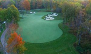 Thundering Waters Golf Club Green in the Fall